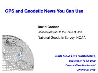 GPS and Geodetic News You Can Use