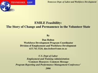 Tennessee Dept. of Labor and Workforce Development