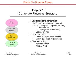Chapter 10 Corporate Financial Structure