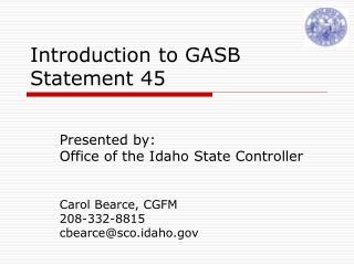 Introduction to GASB  Statement 45