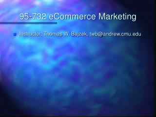 95-732 eCommerce Marketing