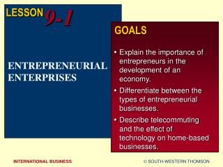 ENTREPRENEURIAL ENTERPRISES