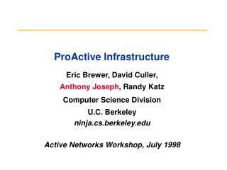 ProActive Infrastructure