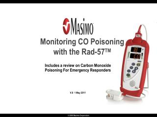 Monitoring CO Poisoning with the Rad-57 TM