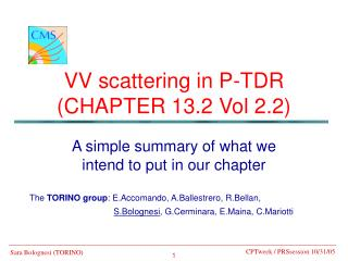 VV scattering in P-TDR  (CHAPTER 13.2 Vol 2.2)