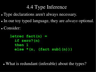 4.4 Type Inference