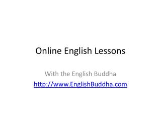 Guide to Online English Lessons