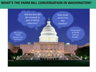 Will the farm bill be renewed as part of deficit reduction?