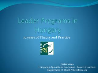 Leader Programs in  Hungary