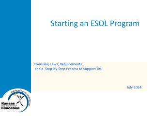 Starting an ESOL Program