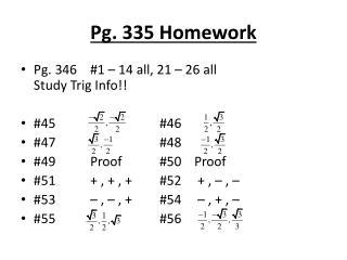 Pg. 335 Homework