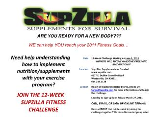 ARE YOU READY FOR A NEW BODY???