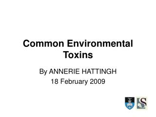 Common Environmental Toxins