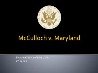 McCulloch v. Maryland