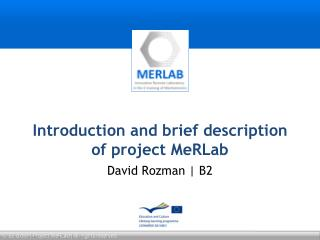 Introduction and brief description of project  MeRLab