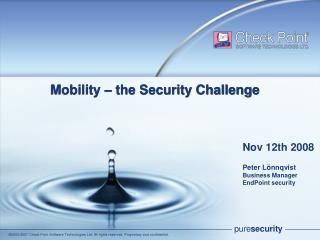 Mobility – the Security Challenge