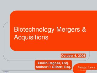 Biotechnology Mergers & Acquisitions