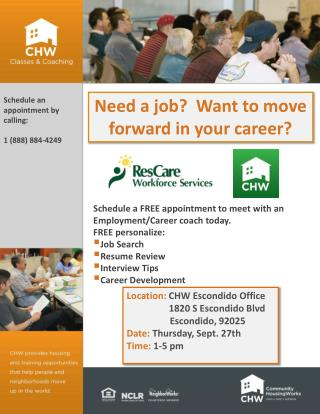 Need a job?  Want to move forward in your career?