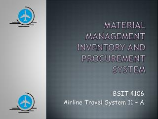 Material Management Inventory and procurement System