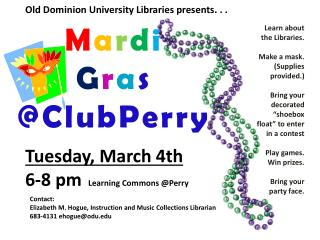 Old Dominion University Libraries presents. . .