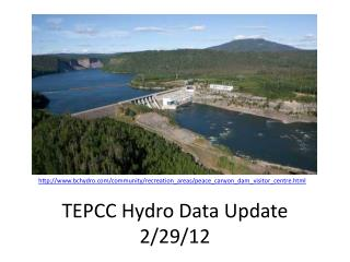 TEPCC Hydro Data Update 2/29/12