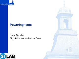 Powering tests