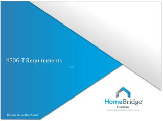 4506-T Requirements 3-14-13