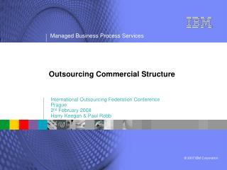 Outsourcing Commercial Structure