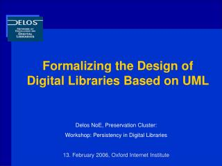 Formalizing the Design of Digital Libraries Based on UML