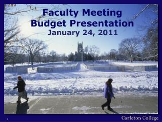 Faculty Meeting Budget Presentation