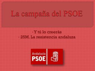 La campaña del PSOE