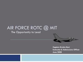 Air Force ROTC @ MIT