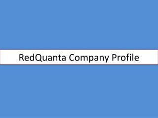 RedQuanta Company Profile