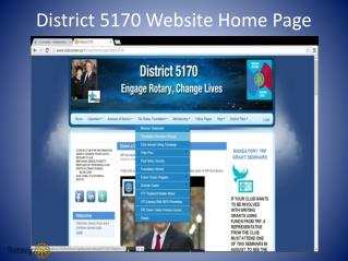 District 5170 Website Home Page