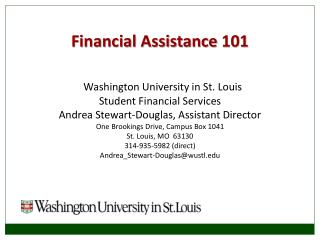Financial Assistance  101