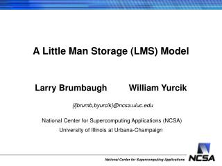 A Little Man Storage (LMS) Model