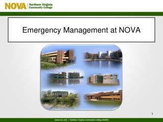 Emergency Management at NOVA