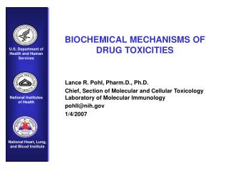 BIOCHEMICAL MECHANISMS OF            DRUG TOXICITIES