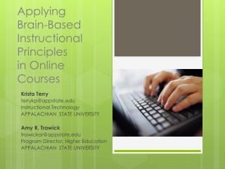 Applying  Brain -Based  Instructional  Principles  in Online Courses