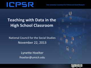 Teaching with Data in the High School Classroom