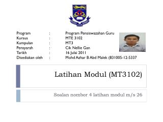 Latihan Modul  (MT3102)