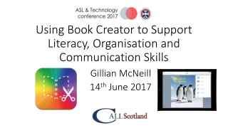 Using Book Creator to Support Literacy, Organisation and Communication Skills