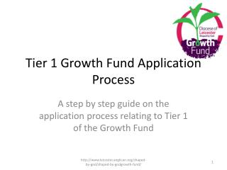Tier 1 Growth Fund Application Process