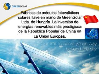 Powerpoint: Tecnologia solar fotovoltaica Hungara