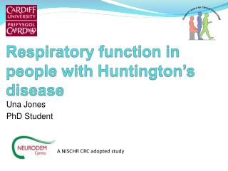 Respiratory function in people with Huntington's disease