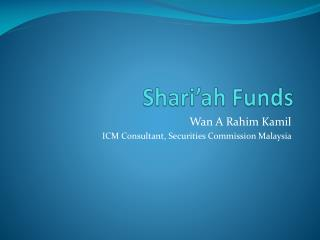 Shari'ah Funds
