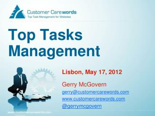 Top Tasks Management