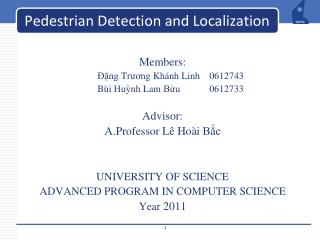 Pedestrian Detection and Localization