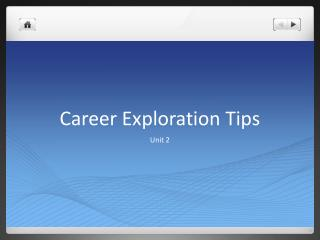 Career Exploration Tips