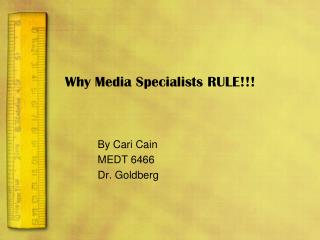 Why Media Specialists RULE!!!